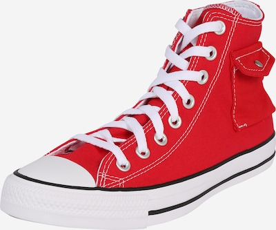 CONVERSE Sneaker 'Chuck Taylor All Star Pocket Hi' in rot / weiß, Produktansicht