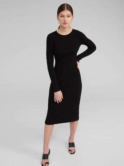 Megzta suknelė 'Hennie' iš EDITED , spalva - juoda, Modelio vaizdas