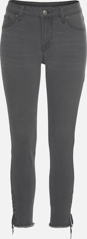LASCANA Jeggings in grey denim, Produktansicht