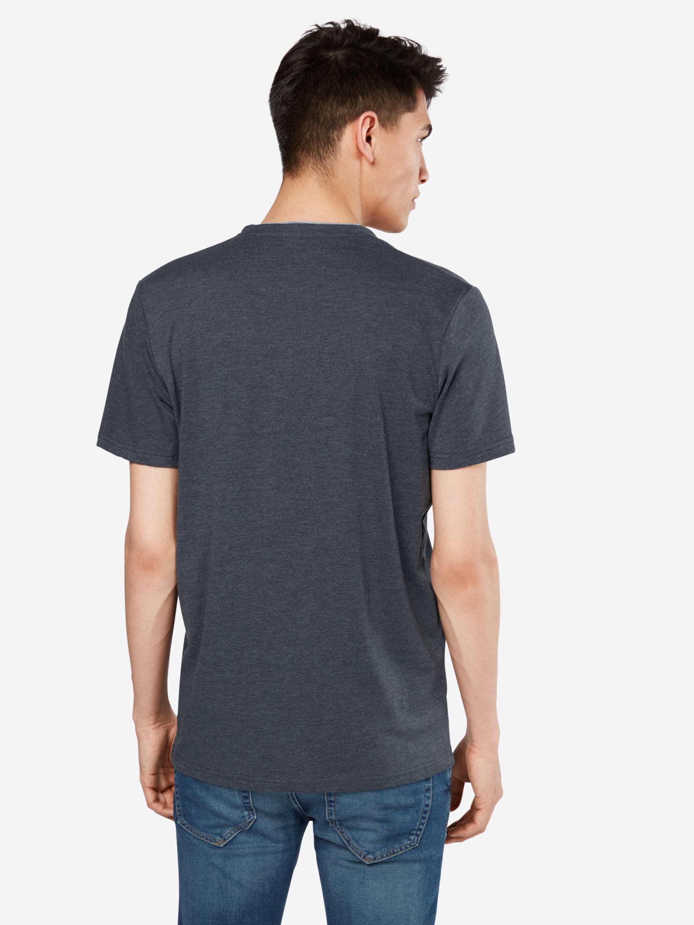 TOM TAILOR T-Shirt 'NOS basic melange henley' Billig Bester Großhandel nZoodlE