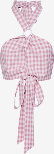 Fashion Union Haut 'KIKI' en rose / blanc, Vue avec produit
