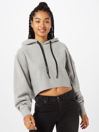 szürke melír / fekete REPLAY Tréning póló, Modell nézet