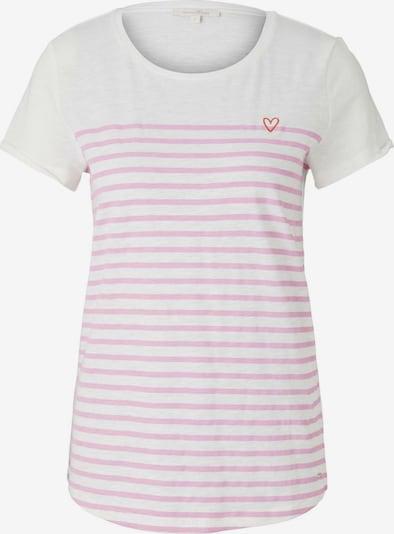 TOM TAILOR DENIM Shirt in creme / rosa, Produktansicht