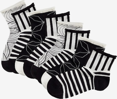 TOM TAILOR Kurzsocken (4 Paar) in schwarz / weiß, Produktansicht