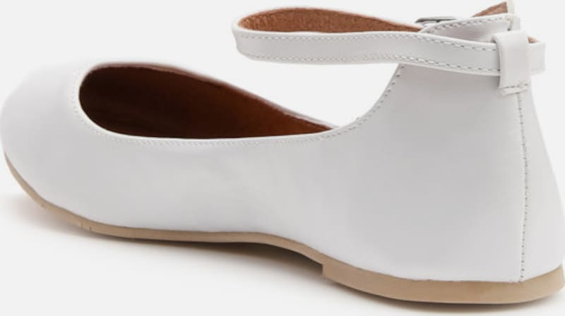 Bianco Ankle Belt-ballerinas