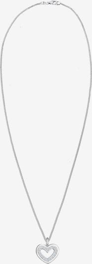 Diamore Ketting 'Herz' in de kleur Zilver / Wit, Productweergave
