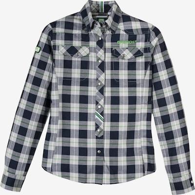 BRANDS WORKWEAR Bluse in grau / grün, Produktansicht