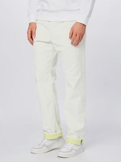 DIESEL Jeans 'D-MACS' in white denim, Modelansicht