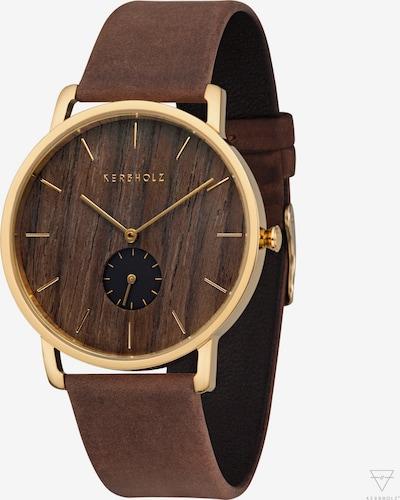 Kerbholz Armbanduhr 'Fritz' in pueblo / gold, Produktansicht