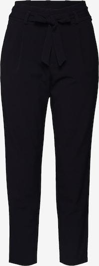 TOM TAILOR DENIM Pantalon à pince 'Paperbag' en noir, Vue avec produit