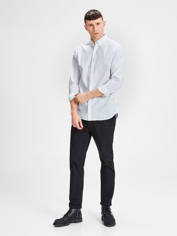 JACK & JONES Langarmhemd Mikroprint