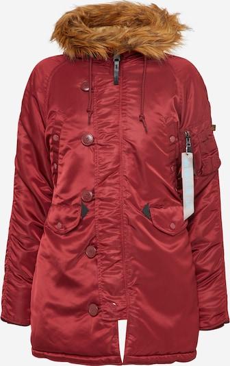 ALPHA INDUSTRIES Winterjacke mit Kapuze in burgunder, Produktansicht