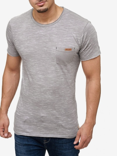 INDICODE JEANS T-Shirt ' Tulsa ' in grau: Frontalansicht
