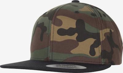 Flexfit Cap in hellbeige / braun / graphit / khaki / schwarz, Produktansicht