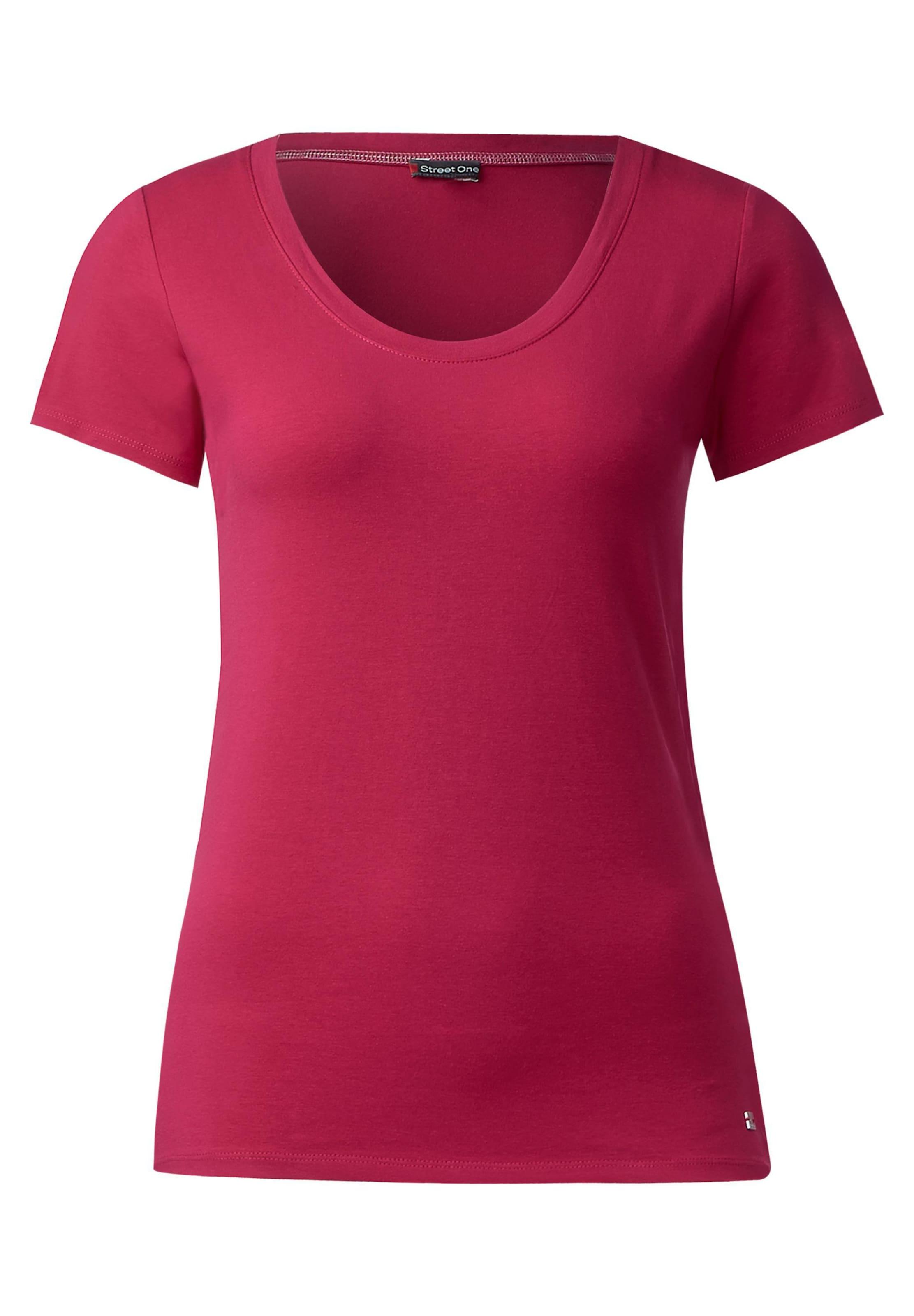 STREET ONE Basic Rundhalsshirt 'Plia' Billig Verkauf Echten Strapazierfähiges Outlet Mode-Stil Geniue Händler Günstig Online Günstig Kaufen Echt nMpe8