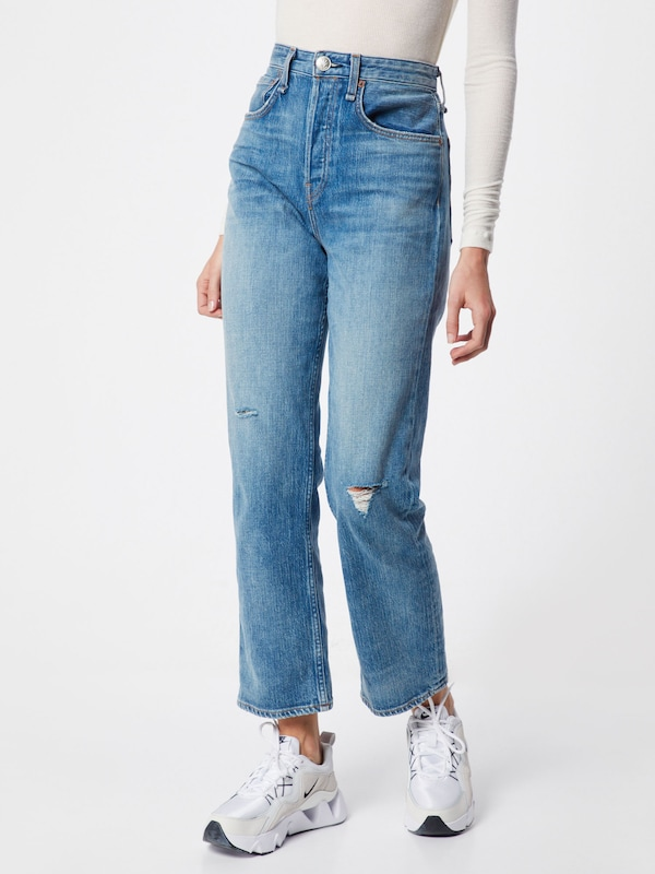 rag & bone Jeans 'MAYA' in blue denim, Modelansicht
