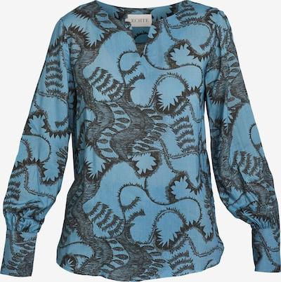 ECHTE Bluse in himmelblau / schwarz, Produktansicht