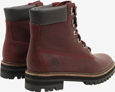 TIMBERLAND Boots 'London Square' in bordeaux / schwarz: Rückansicht