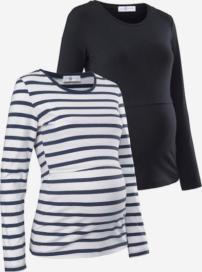 Neun Monate Umstandsshirt in blau / schwarz / weiß, Produktansicht
