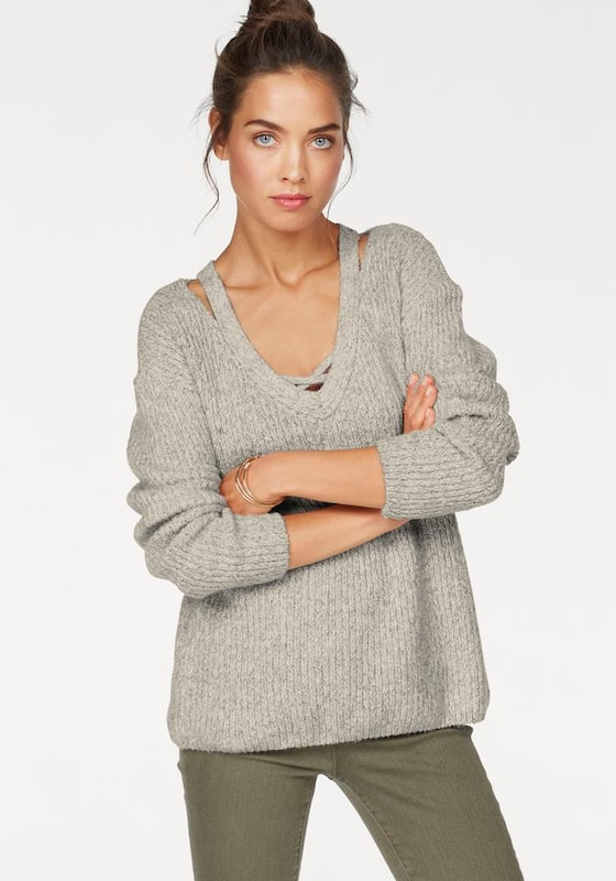 AJC V-Ausschnitt-Pullover