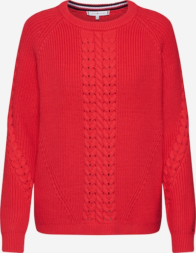 TOMMY HILFIGER Pullover 'Valary C-Nk' in rot, Produktansicht