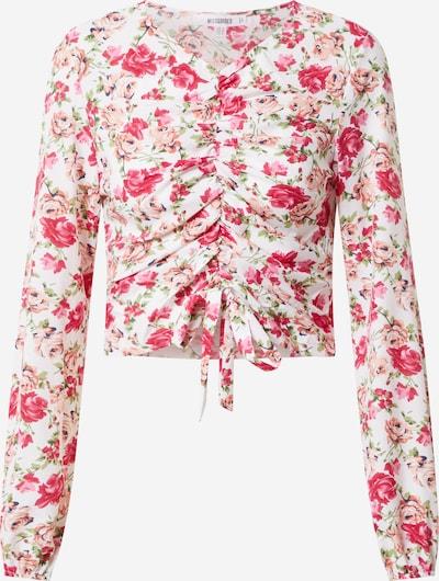 Missguided Bluse in pink / weiß, Produktansicht