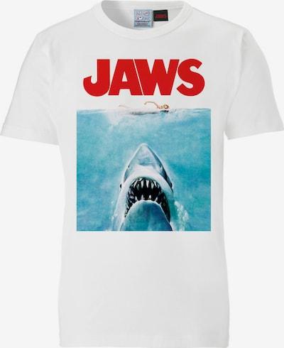 LOGOSHIRT T-Shirt  'Jaws' in mischfarben / weiß, Produktansicht