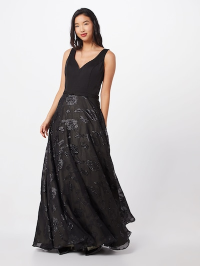 Unique Kleid in dunkelgrün / schwarz, Modelansicht