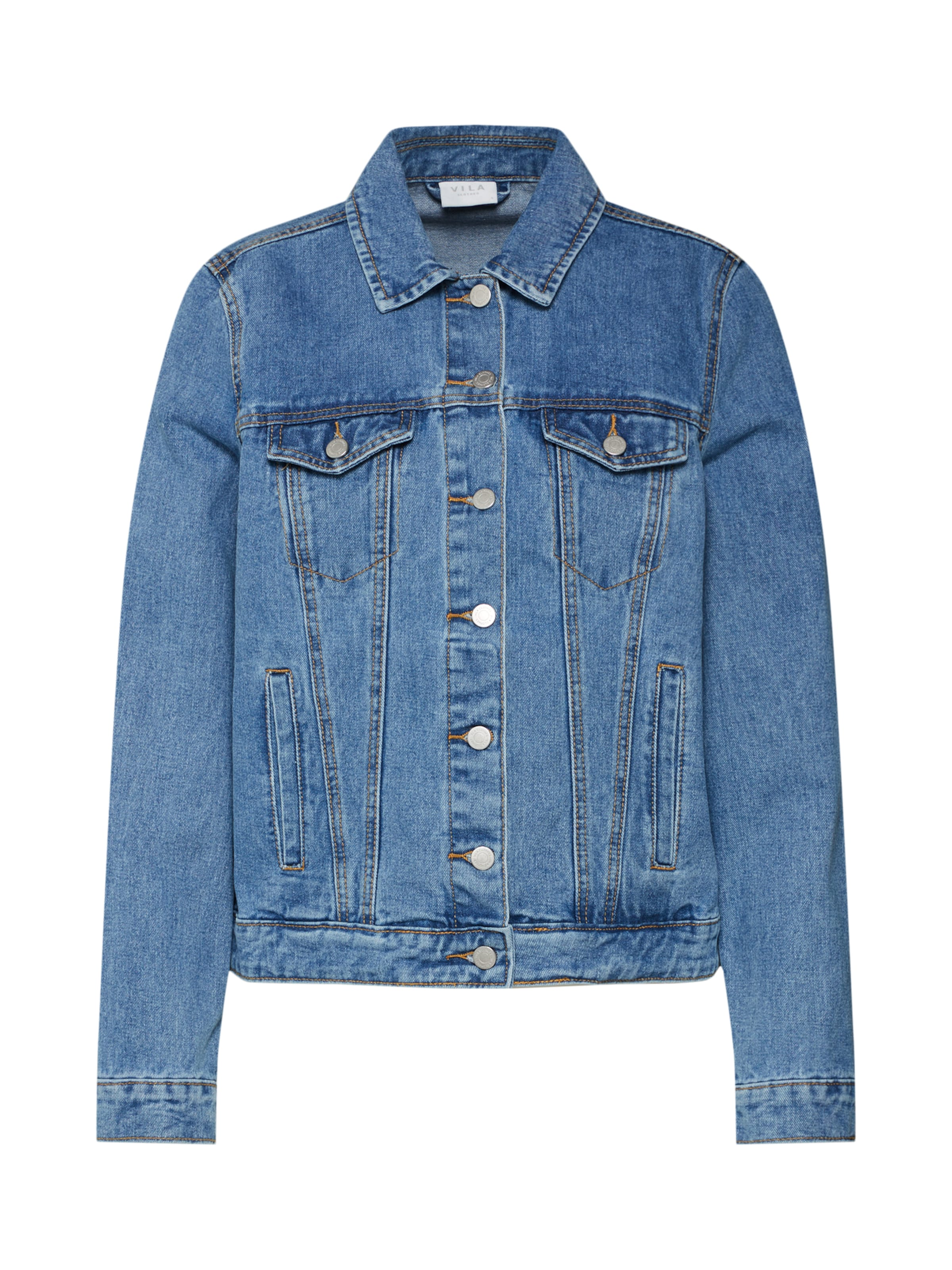 Vila 'vijules Blue Washed Jacket' Denim In Jacke K35uJc1TlF