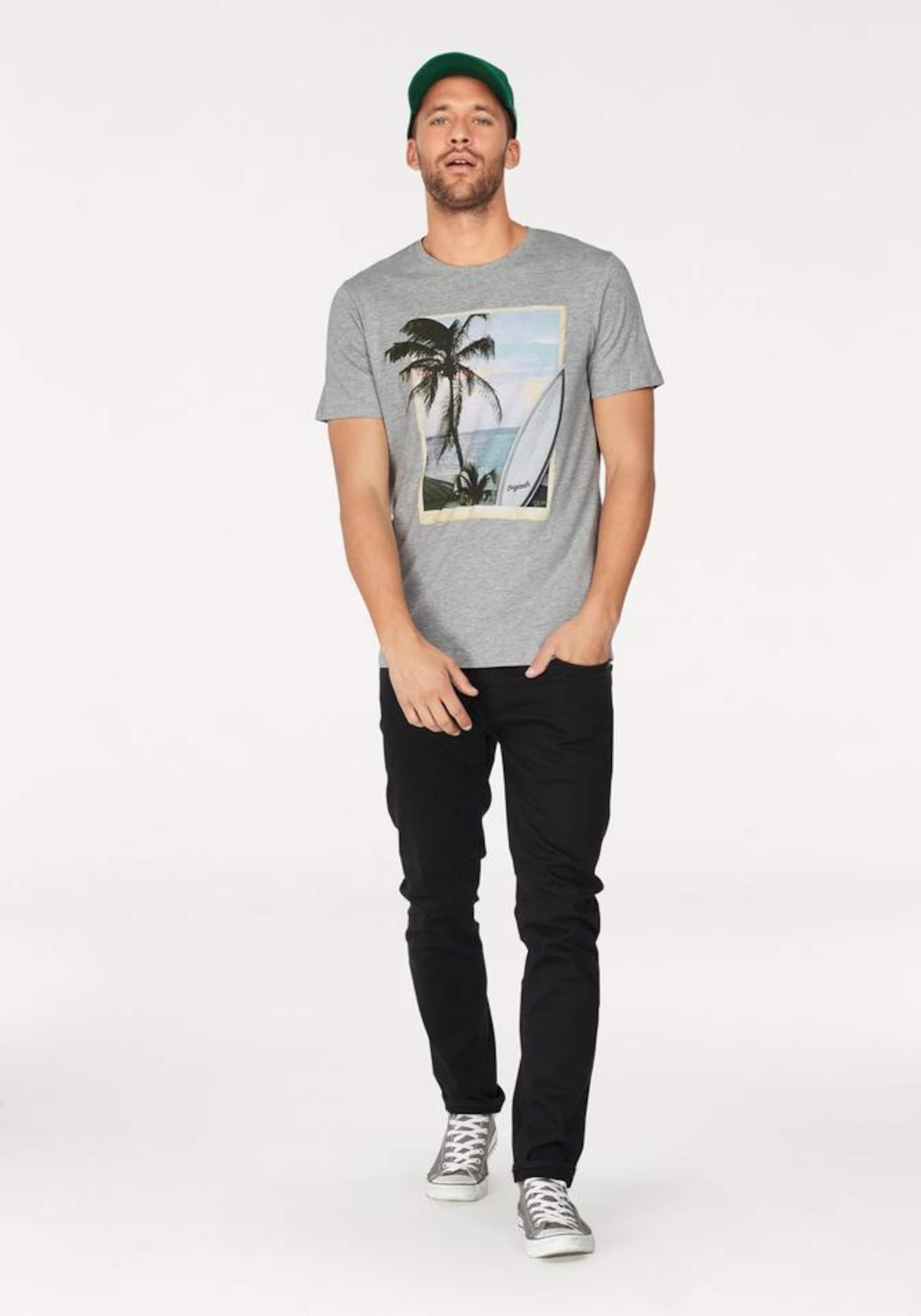 JACK & JONES T-Shirt 'HORIZON TEE' Heiß 4voBbz