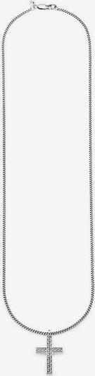 BRUNO BANANI Kette 'Kreuz, B4001N/90/00/60' in schwarz / silber, Produktansicht