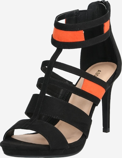 ABOUT YOU Sandal 'Tessa' in Dark orange / Black, Item view