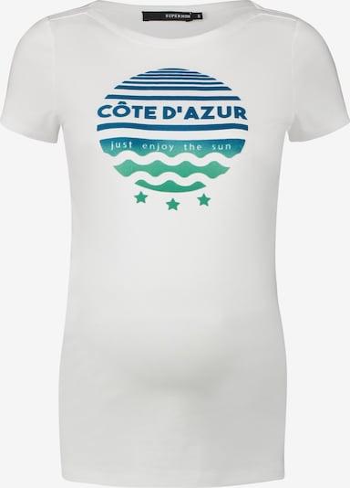 Supermom T-shirt 'Cote d`Azur' en blanc, Vue avec produit