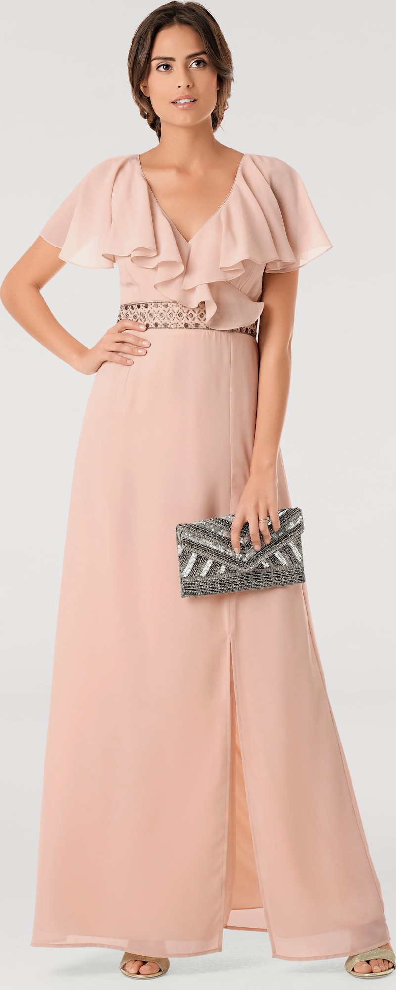 ashley brooke by heine abendkleid mit schlitz in pink about you. Black Bedroom Furniture Sets. Home Design Ideas