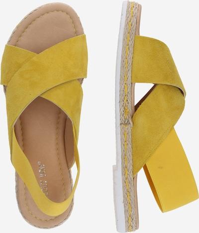 ABOUT YOU Sandales 'Nadja' en jaune, Vue avec produit