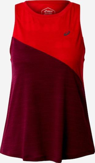 ASICS T-shirt fonctionnel 'TOKYO' en rouge / bourgogne, Vue avec produit