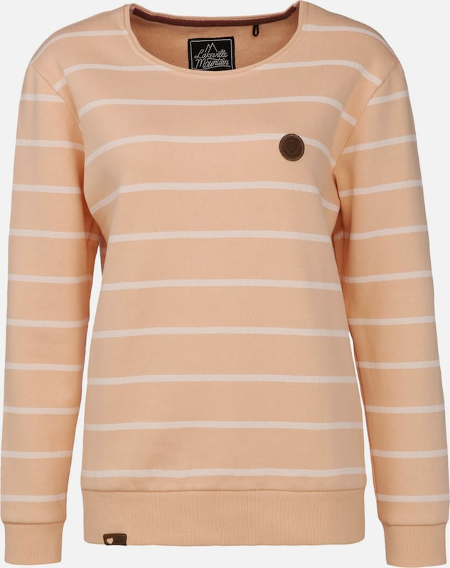 Lakeville Mountain Sweatshirt 'Cuanda Striped' in de kleur Perzik, Productweergave