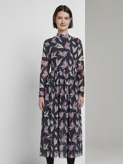 TOM TAILOR DENIM Kleid in basaltgrau, Modelansicht