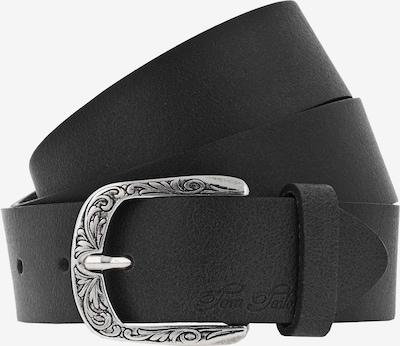 TOM TAILOR Pasek 'Soft vintage' w kolorze czarny / srebrnym, Podgląd produktu