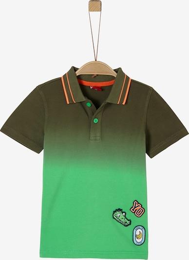 s.Oliver Poloshirt in grün / dunkelgrün, Produktansicht
