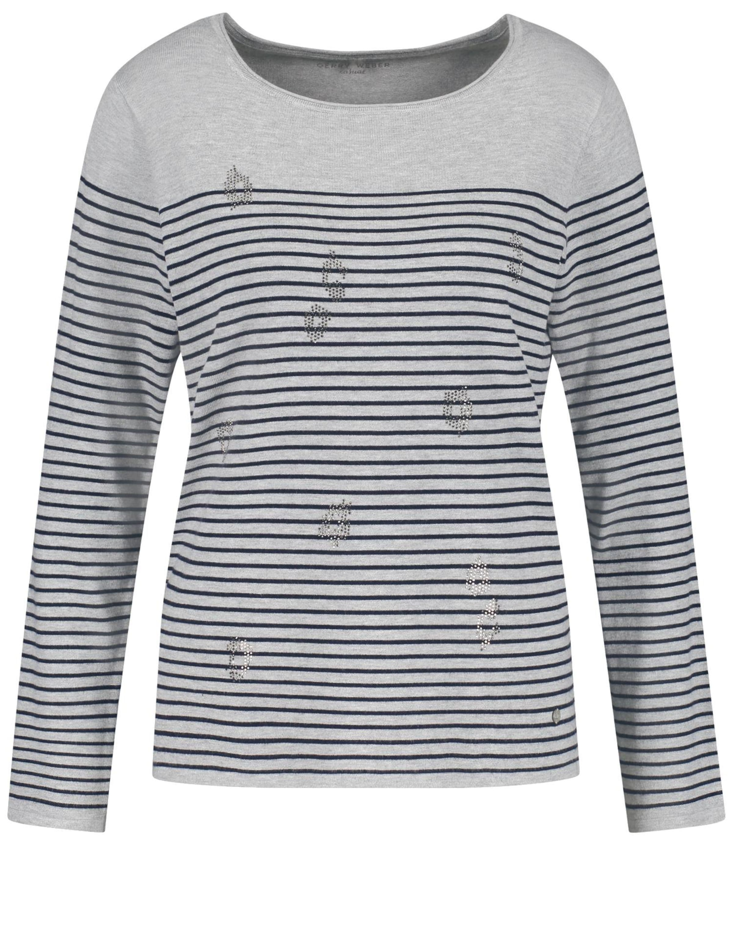 Gerry Weber Pullover NachtblauGrau Weber Gerry In In Pullover NOvm80wn