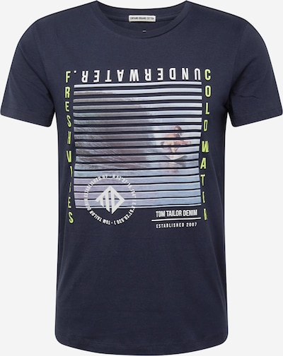 TOM TAILOR DENIM T-Shirt en mélange de couleurs / noir, Vue avec produit
