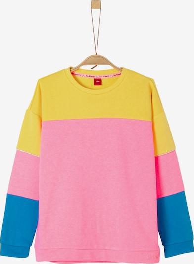 s.Oliver Junior Sweatshirt in himmelblau / gelb / pink, Produktansicht