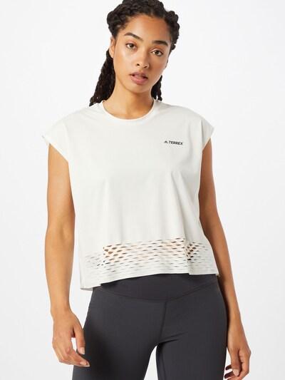 ADIDAS PERFORMANCE T-Shirt 'Terrex Agravic' in schwarz / weiß: Frontalansicht