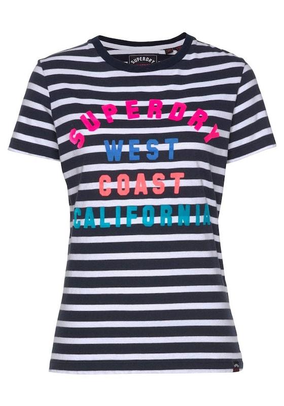 Stripe Noir shirt T En Coast Blanc Mélange De Superdry Entry' 'west Couleurs v4SqnnI