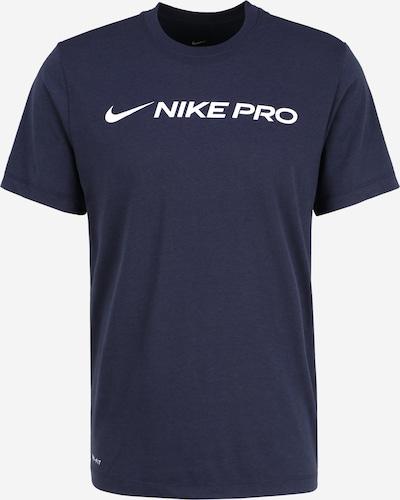 NIKE Funktionsshirt in blau / schwarz, Produktansicht
