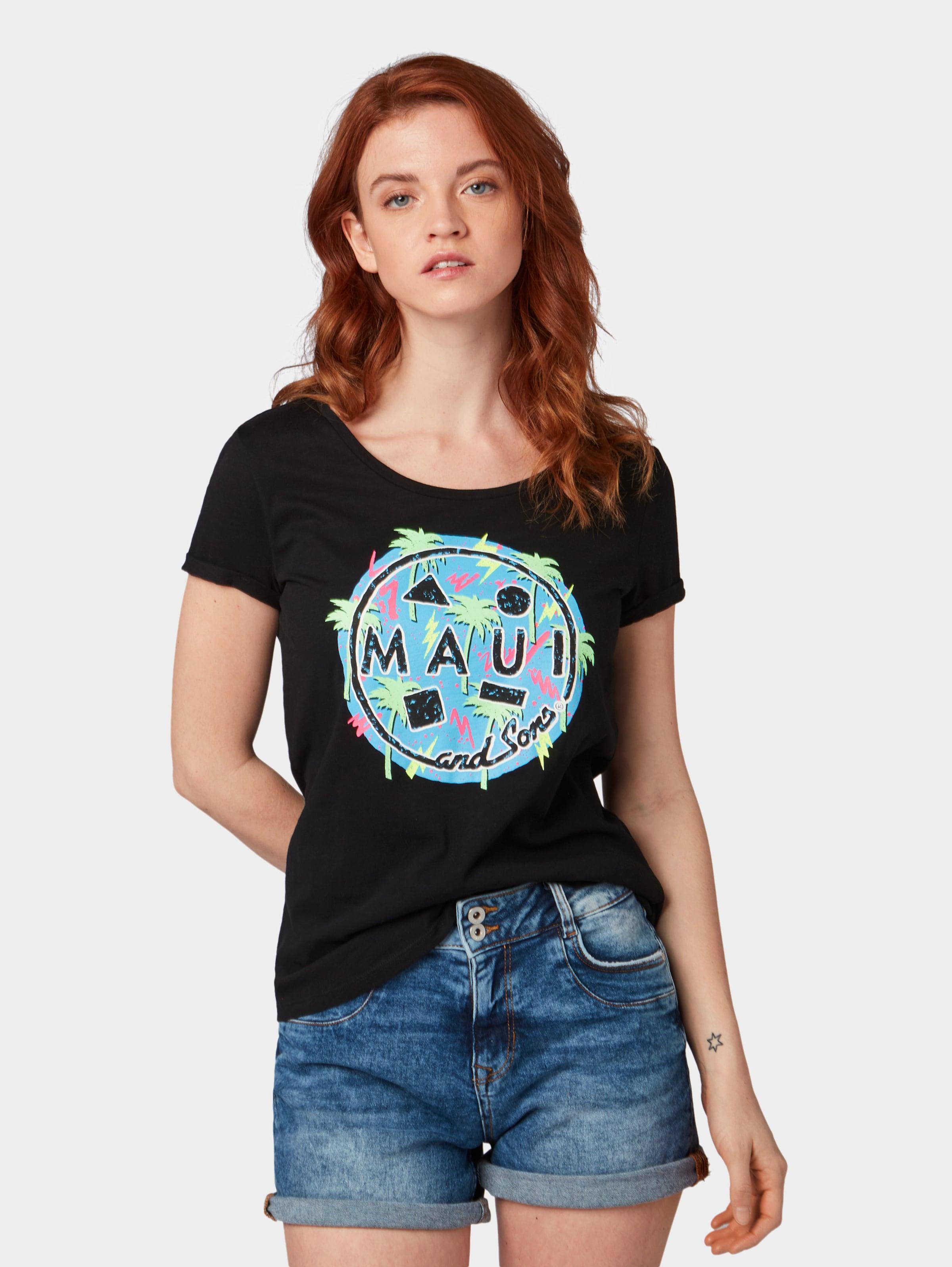 Denim MischfarbenSchwarz In Tom shirt T Tailor 4L5ARj