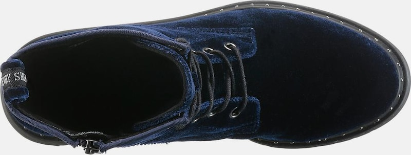 Haltbare Mode billige Schuhe TAMARIS | Schnürstiefellette Schnürstiefellette Schnürstiefellette in Samt-Optik Schuhe Gut getragene Schuhe e0b2b1