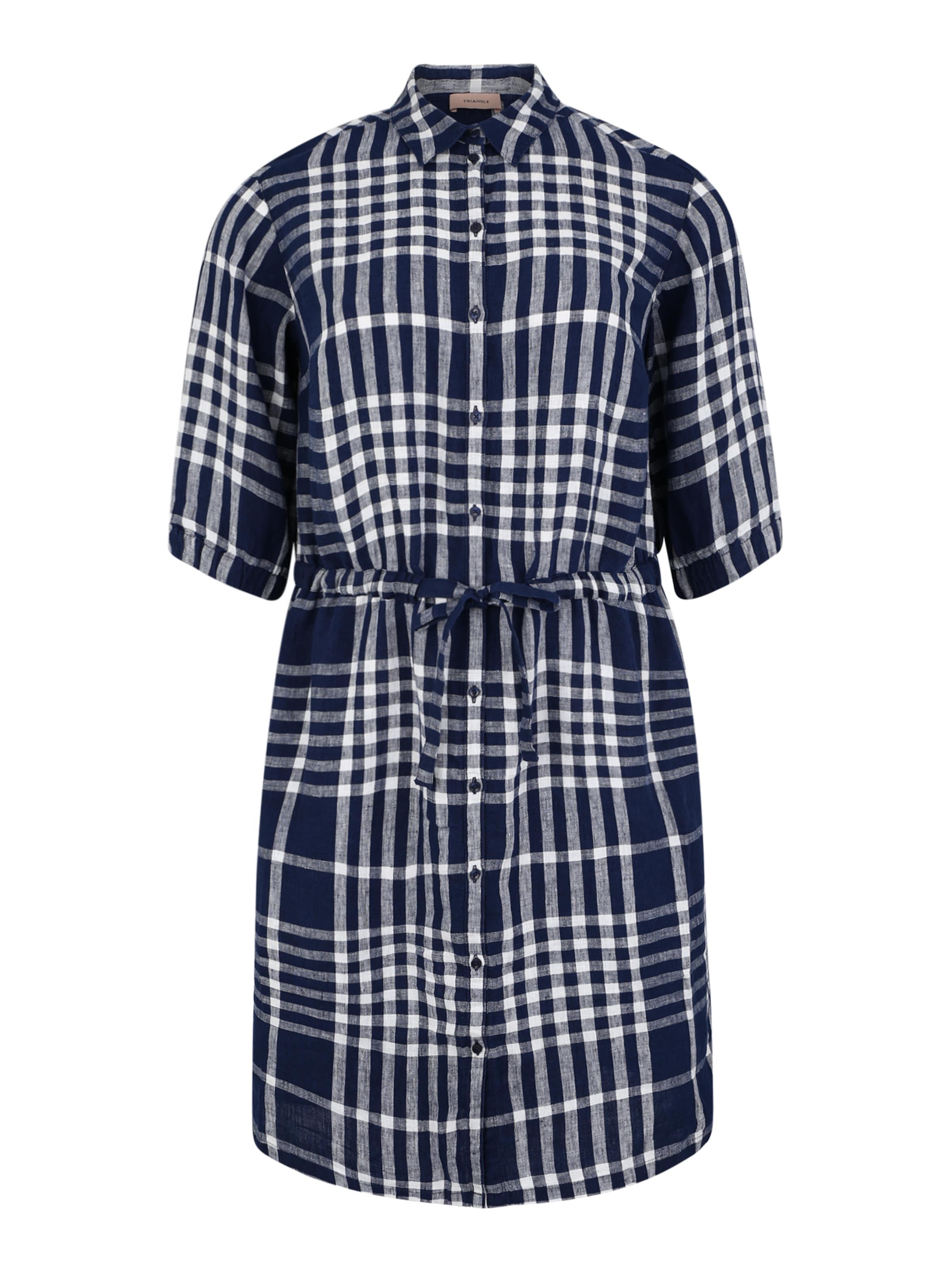 Triangle Robe En Bleu chemise Foncé yYbfgv67