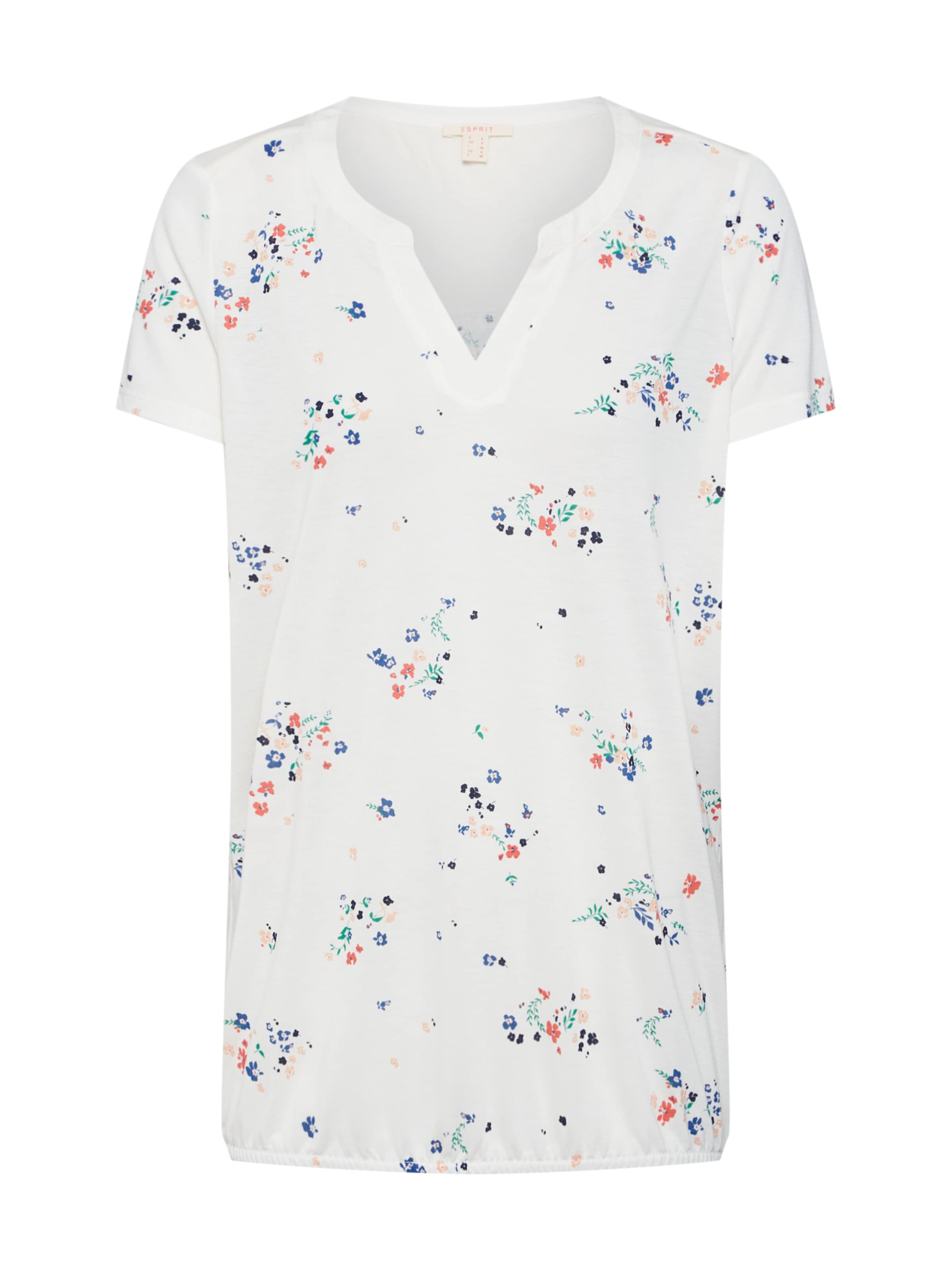 shirts' Esprit Cassé Blanc T T shirt mod Henley 'co En POiuXZkT